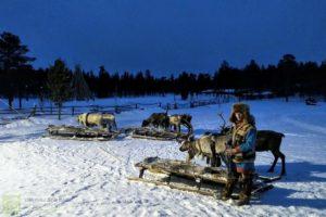 Стойбище оленеводов в Ловозере