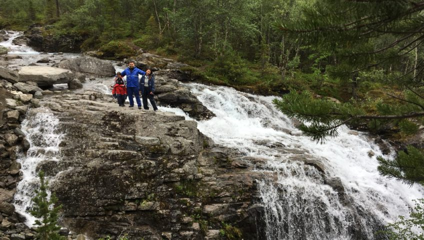 К водопаду на реке Рисйок