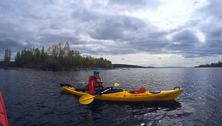 Прогулка на каяке по озеру Килпъявр